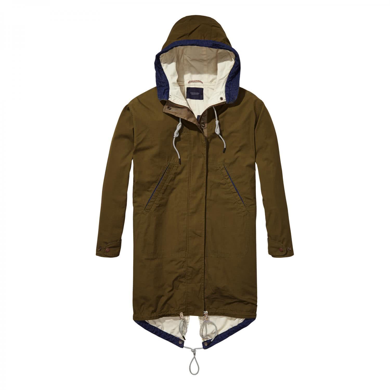 maison scotch damen parka oversized jacket 138351. Black Bedroom Furniture Sets. Home Design Ideas