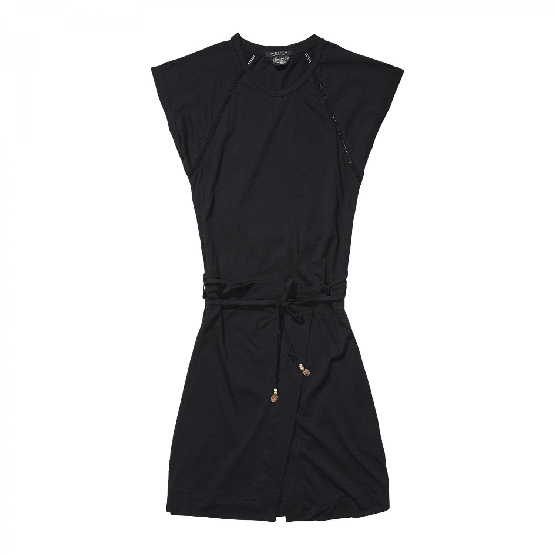maison scotch damen kleid jersey dress 16210288711 90 l black l. Black Bedroom Furniture Sets. Home Design Ideas