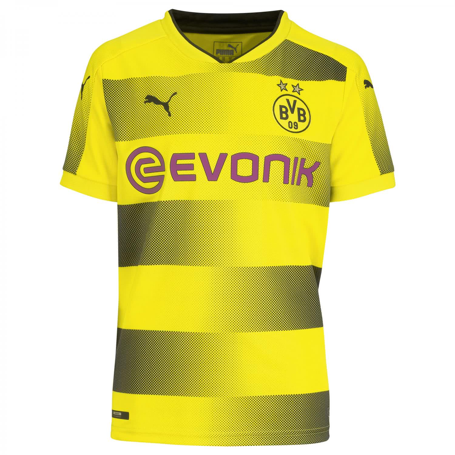puma kinder bvb borussia dortmund home trikot 2017 18. Black Bedroom Furniture Sets. Home Design Ideas