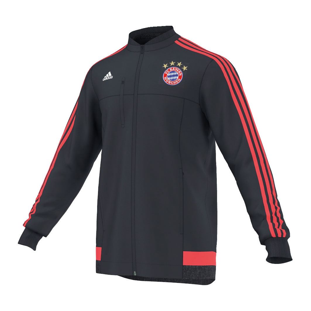 adidas herren fc bayern m nchen anthem jacke 15 16 ebay. Black Bedroom Furniture Sets. Home Design Ideas