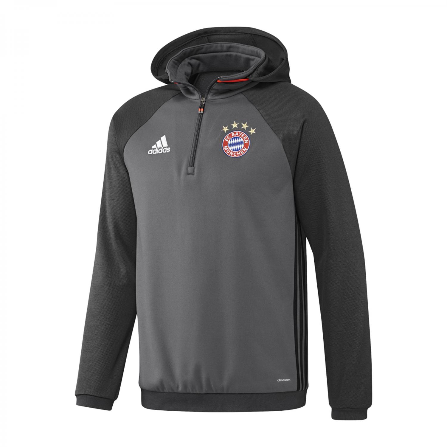 adidas herren fc bayern m nchen fleece pullover 16 17 ebay. Black Bedroom Furniture Sets. Home Design Ideas