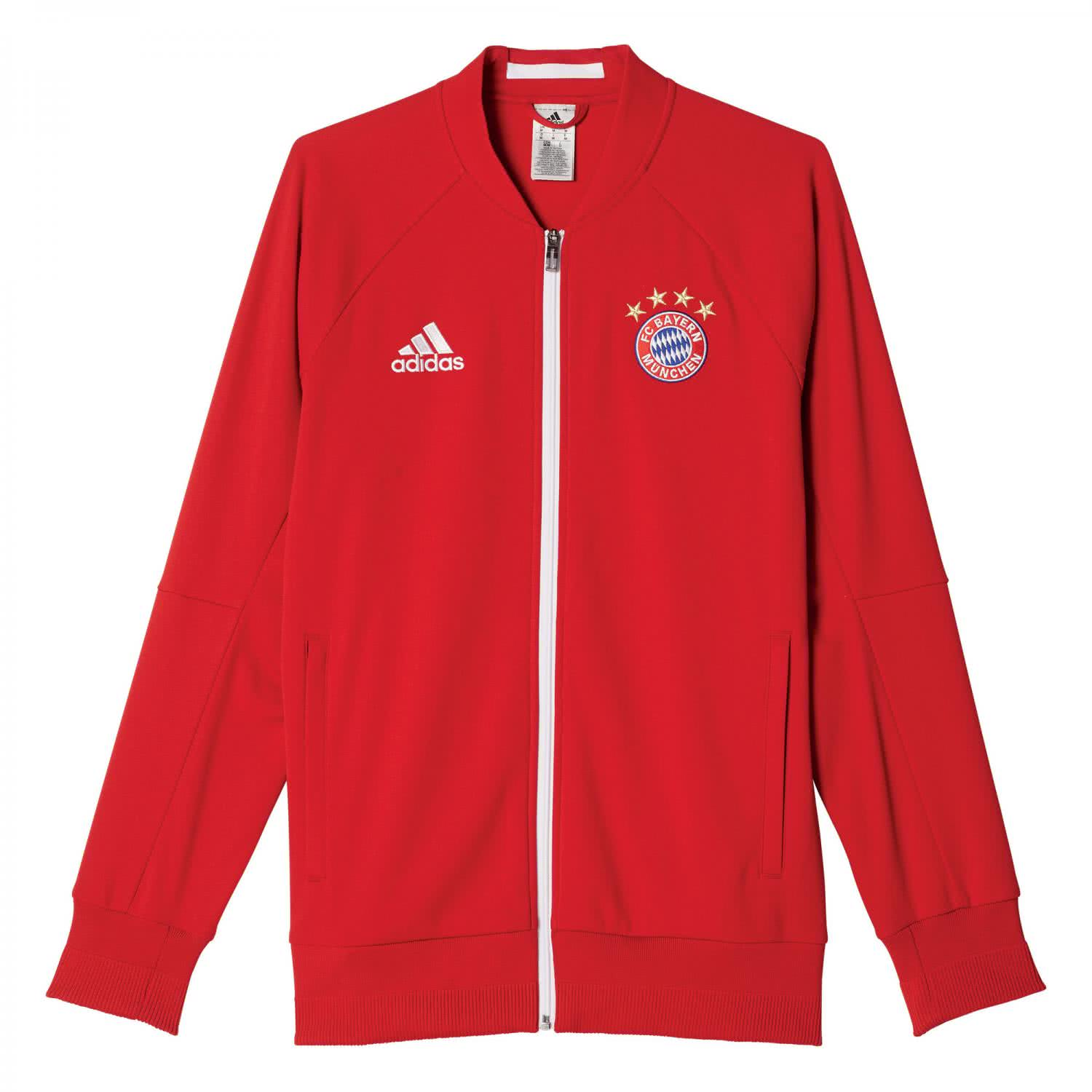 adidas herren fc bayern m nchen anthem jacke 16 17. Black Bedroom Furniture Sets. Home Design Ideas