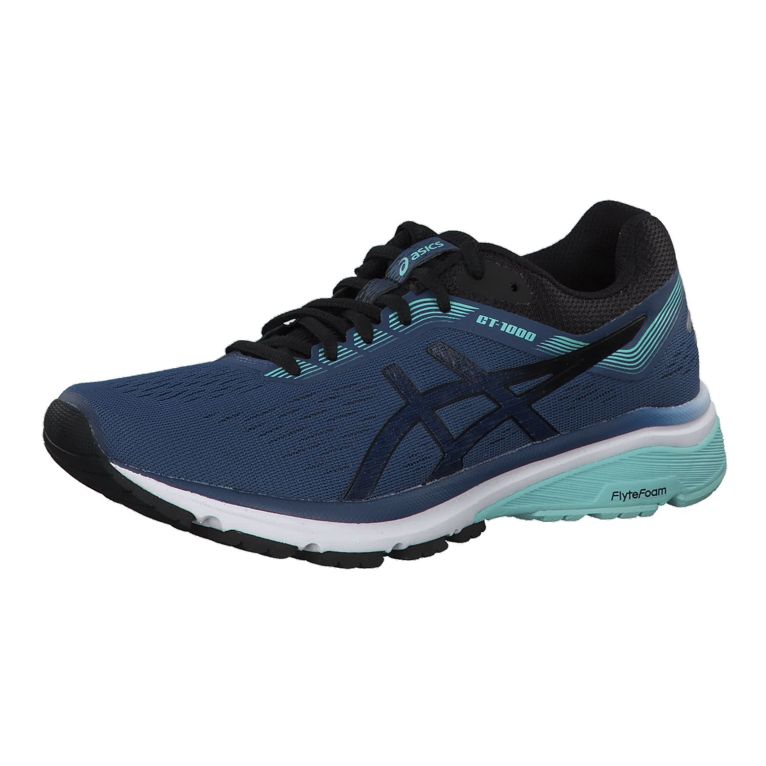 Asics Damen Laufschuhe GT-1000 7 1012A030-401 37.5 GRAND SHARK/BLACK ...