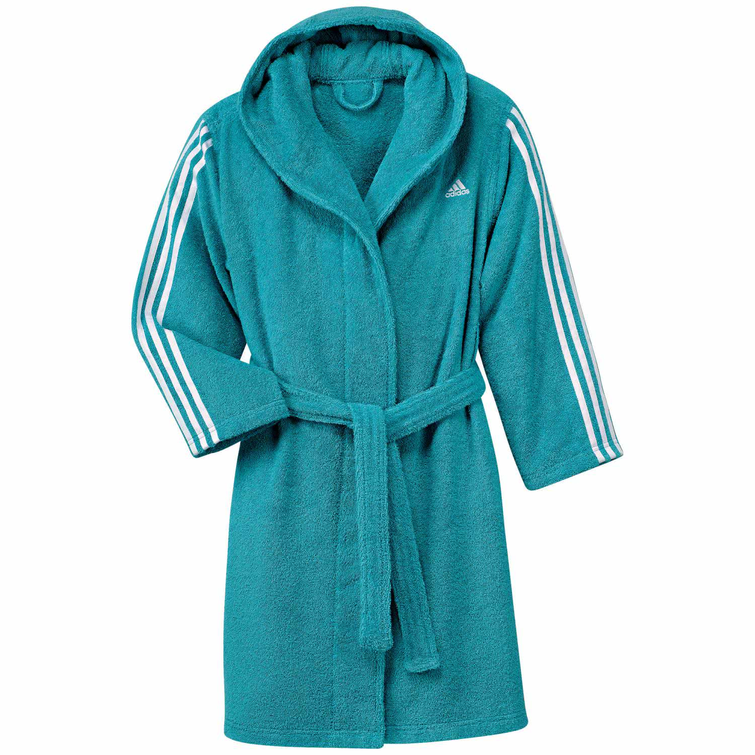 adidas kinder bademantel 3 stripes bathrobe. Black Bedroom Furniture Sets. Home Design Ideas