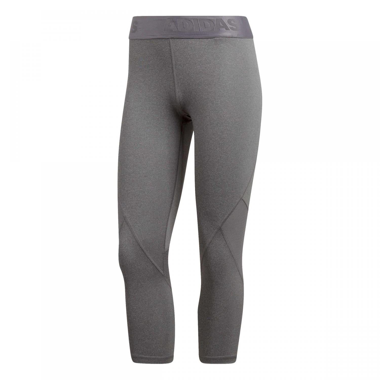 adidas Alphaskin Sport Heather 34 Tights Women dark grey