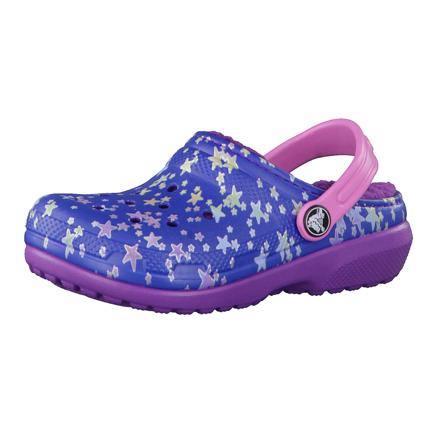 crocs Kinderschuhe Classic Lined Graphic Clog K 204817 Ocean/Navy 32-33 zX8z5gC8