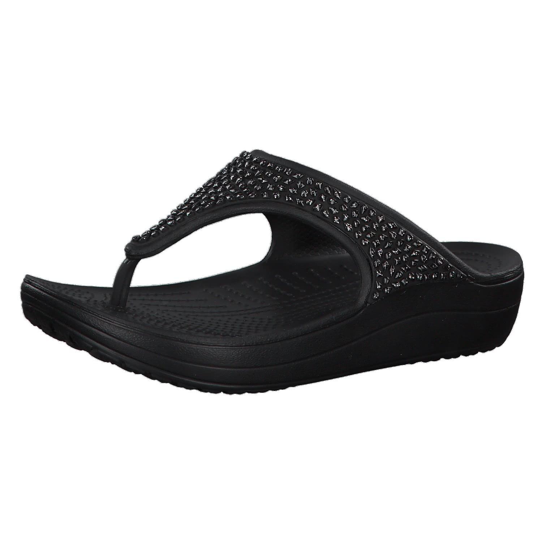 Damen Schuhe Crocs Sloane Flip 204181 Black SY70e3EEg