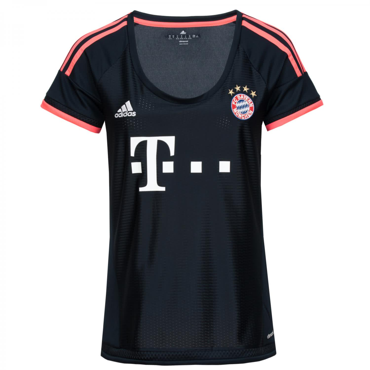 adidas damen fc bayern m nchen ucl trikot 2015 16 aa2147. Black Bedroom Furniture Sets. Home Design Ideas