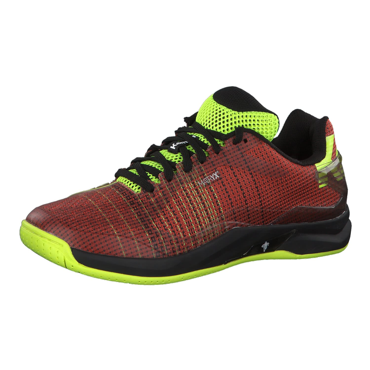 ATTACK TWO CONTENDER - Handballschuh - tomato red/black/fluo yellow f4v3I9t