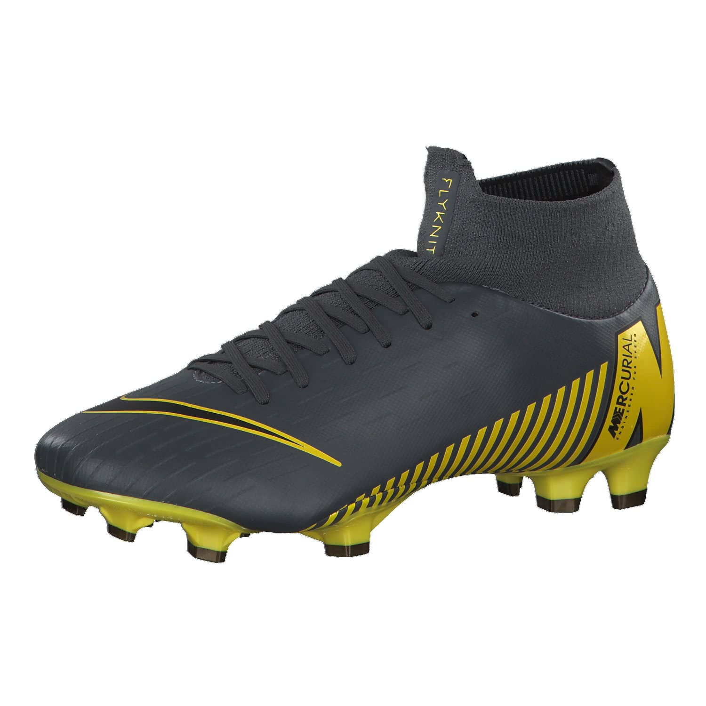 Nike Herren Fussballschuhe Mercurial Superfly VI Pro FG AH7368 070 42.5 Dark GreyBlack Opti Yellow | 42.5 |