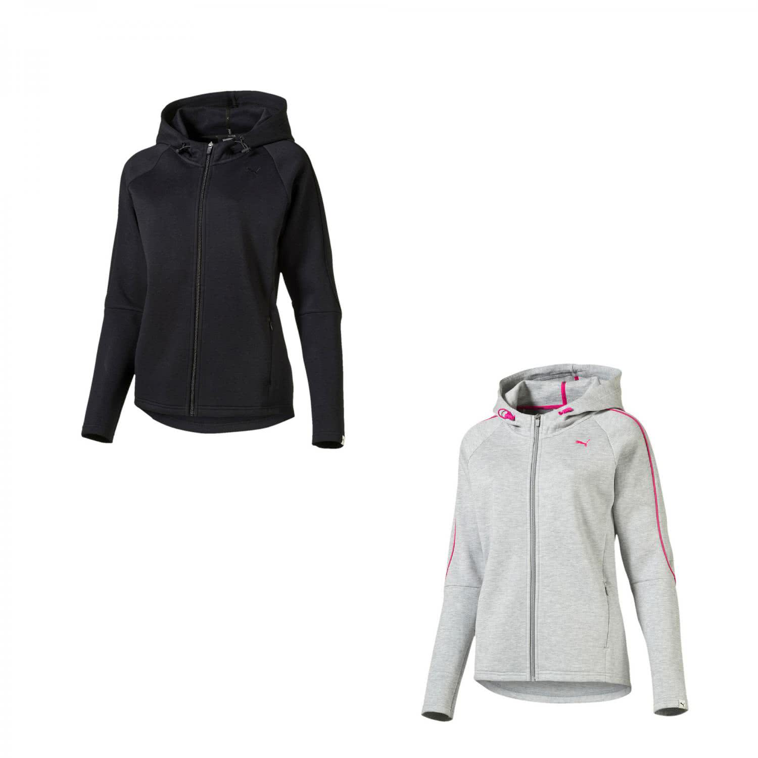puma damen sweatjacke evo fz hoody 838499 ebay. Black Bedroom Furniture Sets. Home Design Ideas