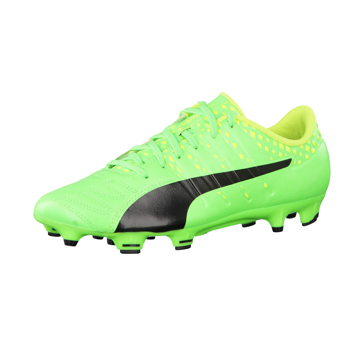 EVOPOWER VIGOR 3 FG - Fußballschuh Nocken - green gecko/black/safety yellow