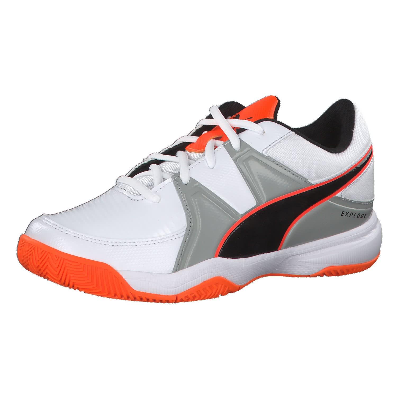 finest selection 60c84 2f881 Puma Kinder Handballschuhe Explode 3 Jr 104877-02 31 Puma  White-Quarry-Orange   31   cortexpower.de