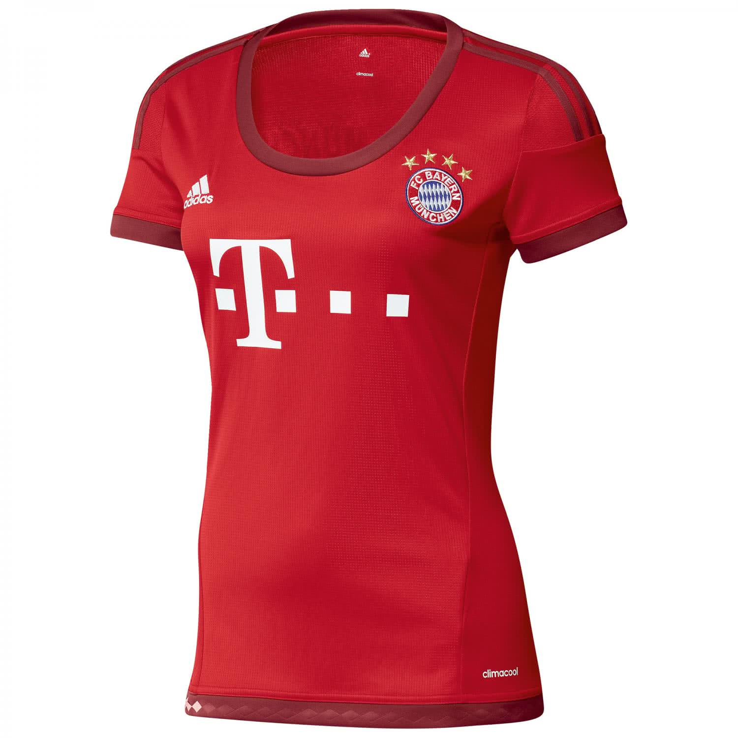 adidas damen fc bayern m nchen home trikot 2015 16 s08654. Black Bedroom Furniture Sets. Home Design Ideas