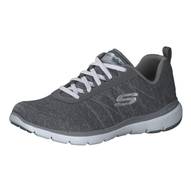 Skechers Damen Flex Appeal 3.0 insiders Sneaker, Grau (Grey