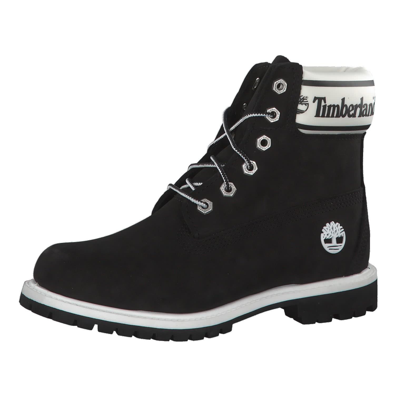 Timberland Damen Stiefel 6 Inch Logo Collar Boots