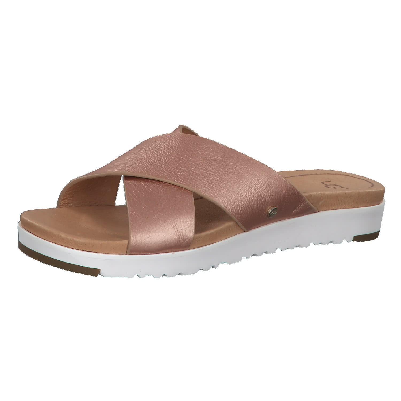 UGG Sandale 'Kari' Metallic mit Lederriemen rosegold / weiß BKtZZAJi