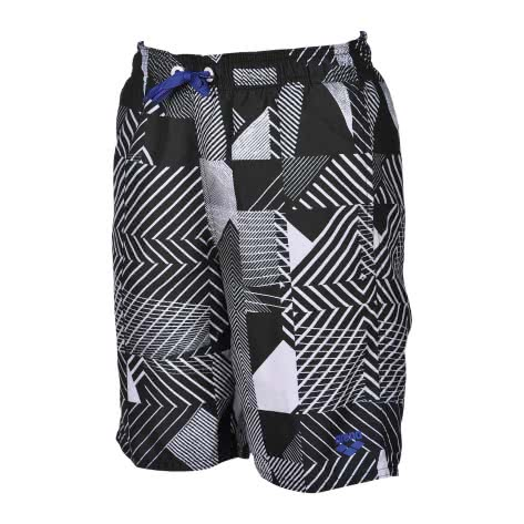 Arena Jungen Badehose Optical Jr Long Bermuda 000648 Black Multi Größe 140,152