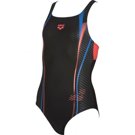 Arena Mädchen Badeanzug Roy Jr Swim Pro Back 001765 Black Shiny Pink Größe 128,140,152,164