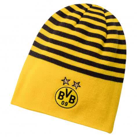 Puma BVB Borussia Dortmund Mütze BVB Reversible Beanie 021369 Cyber Yellow-Puma Black Größe: One size