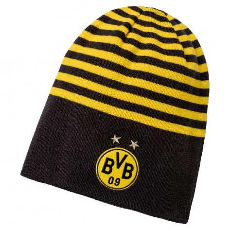 Puma BVB Borussia Dortmund Mütze BVB Reversible Beanie 021369 Puma Black-Cyber Yellow Größe: One size