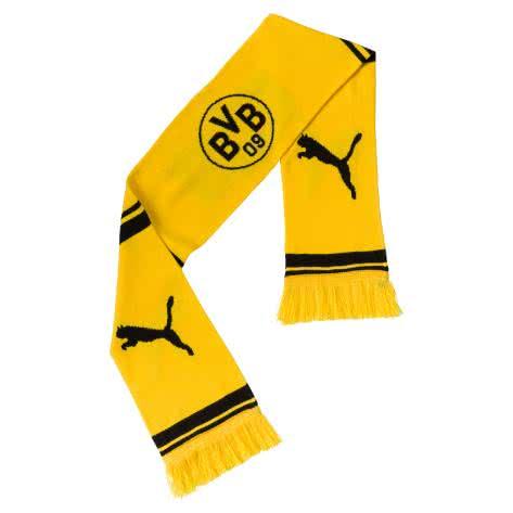 Puma BVB Borussia Dortmund Schal BVB Fan Scarf 053280 Cyber Yellow-Puma Black Größe: One size
