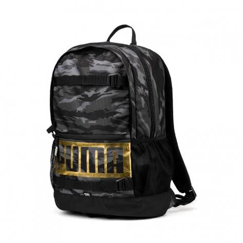Puma Unisex Rucksack Deck Backpack 074706-22 One size Puma Black-Gold-Camo AOP | One size