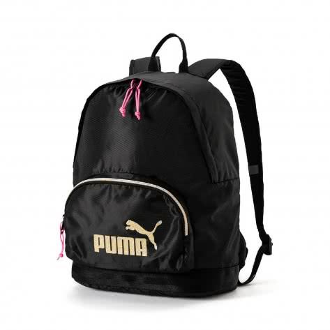 Puma Damen Rucksack Core Backpack Seasonal 075397-01 One size Puma Black-Gold | One size