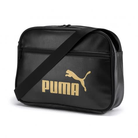 Puma Damen Umhängetasche Core Up Reporter 076735-01 One size Puma Black-Gold | One size