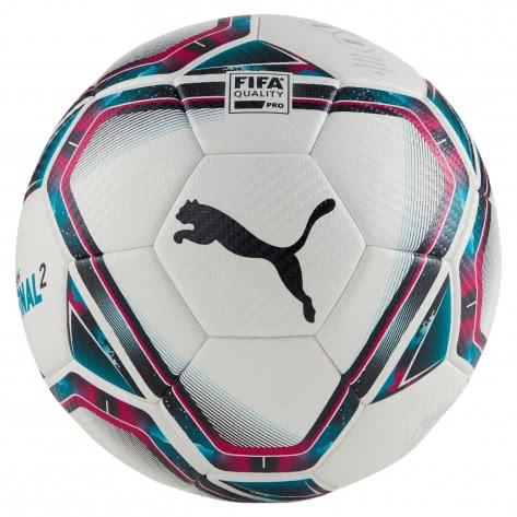 Puma Fussball teamFINAL 21.2 FIFA Quality Pro Ball 083304-01 5 Puma White-Rose Red-Ocean Depths   5