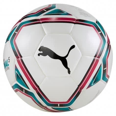 Puma Fussball teamFINAL 21 Lite Ball 350g 083314-01 4 Puma White-Rose Red-Ocean Depths-Puma Black | 4