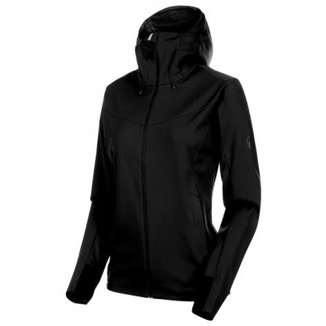 Mammut Damen Softshelljacke Ultimate V Hooded 1011-00072-0052 XXL black-black   XXL