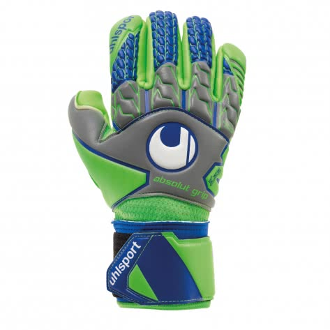 Uhlsport Torwarthandschuhe Tensiongreen Absolutgrip FS 101105401 10.5 Dark Grey/Fluo Green/Navy | 10.5