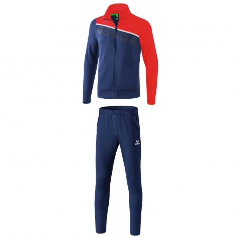 erima Kinder Polyesteranzug 5-C 1021906+3100705 128 New Navy/Rot/Weiß   128