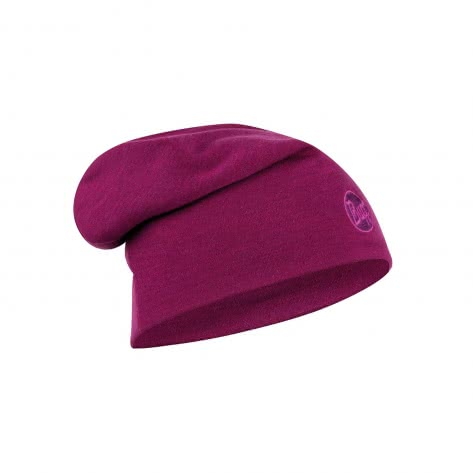 Buff Mütze Heavy Merino Wool Hat Buff 111170-620 Solid Raspberry Purple | One size