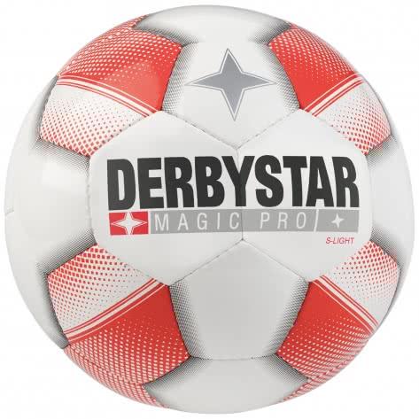 Derbystar Kinder Fussball Magic Pro S-Light 1118500130 5 weiß rot   5