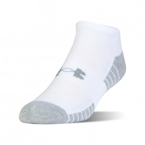 Under Armour Unisex Sportsocken Tech No Show 3er-Pack 1312439-100 XL White/Graphite | 47-52