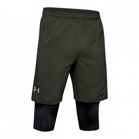 Under Armour Herren Lange Short Launch SW 2-In-1 1326577-310 S Baroque Green/Reflective | S