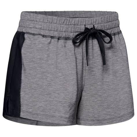 Under Armour Damen Short Athlete Recovery Sleepwear 1329479-002 XS Black Fade Heather/Metallic Silver | XS