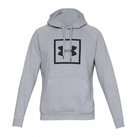 Under Armour Herren Hoodie RIVAL FLEECE LOGO 1329745-035 M Steel Light Heather/Black | M