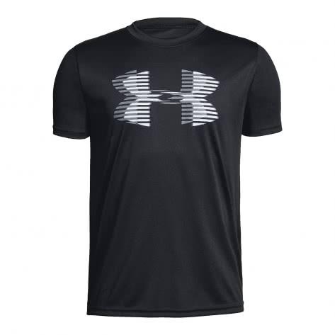Under Armour Jungen T-Shirt Tech Big Logo Solid 1331687 Black White Steel Größe 128,152,164