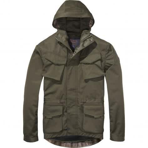 Scotch & Soda Herren Jacke Hooded jacket 139367-0360 L Military | L