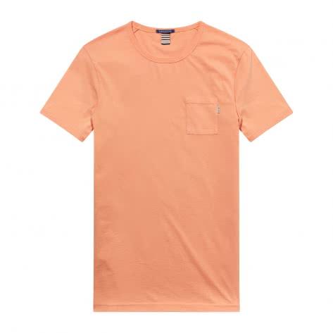 Scotch & Soda Herren T-Shirt Ams Blauw Garment Dyed Tee 141304-1747 S Faded Spice   S