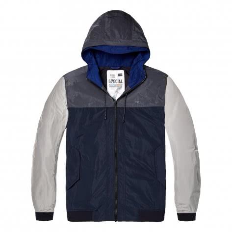 Scotch & Soda Herren Jacke Short Hooded Nylon Jacket 142291-0218 L Combo B | L