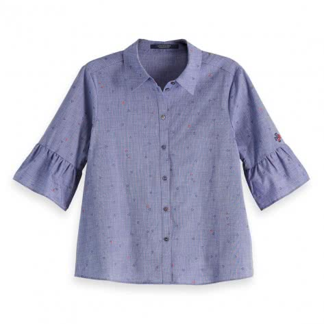Maison Scotch Damen Bluse Clean shirt with special sleeves 147559
