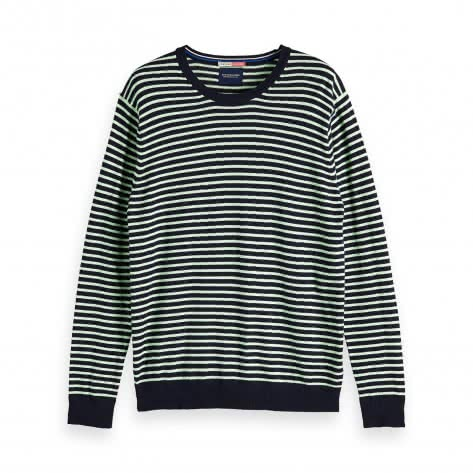 Scotch & Soda Herren Pullover Ams Blauw cotton cashmere knit 147632