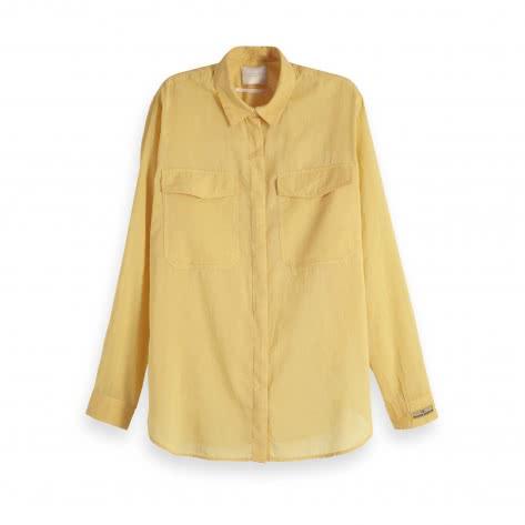 Maison Scotch Damen Bluse Cotton Button Up 149768