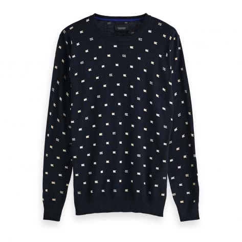 Scotch & Soda Herren Pullover Blauw Crew Neck 150554