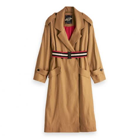 Maison Scotch Damen Trenchcoat Drapy Coat 150563-09 M Sand | M