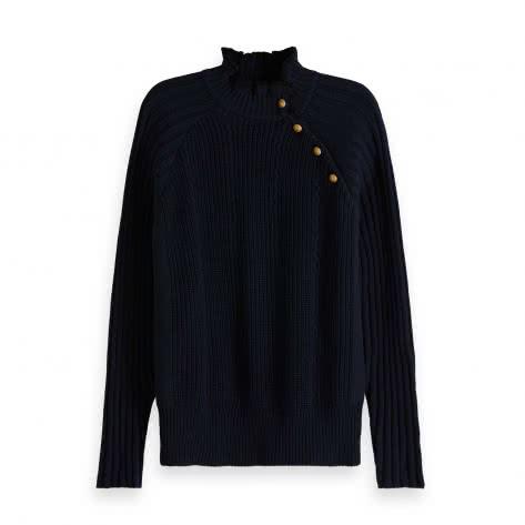 Maison Scotch Damen Pullover Basic Buttoned Pull 150749